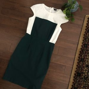 Green and White Theory Dress